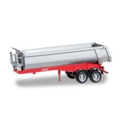 semi-remorque benne Carnehl à 2 essieux châssis rouge