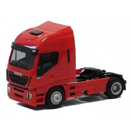 Iveco Stralis Euro 6 tracteur solo rouge avec déflecteur