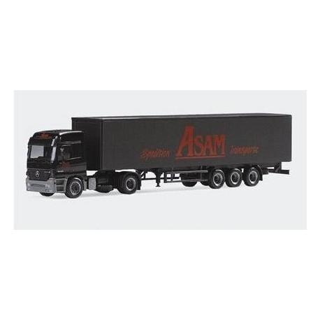 MB Actros L + semi-remorque tautliner Spedition Asam Transporte