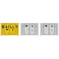 "Set de 3 containers 10' ""Bailly & SNCF"" (Epoque III)"