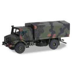MB Zetros 4x4 camion bâché camouflé (Cbe blindée)