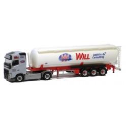 """Volvo FH GL '13 + semi-rqe silo """"Will Logistics"""""""