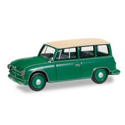 AWZ P70 berline (1955) Kombi vert à toit blanc