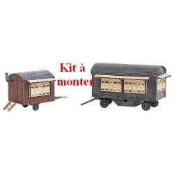 Set de 2 remorques pour le transport de ruches