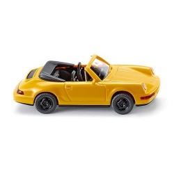 Porsche 911 cabriolet (1989) jaune intérieur noir