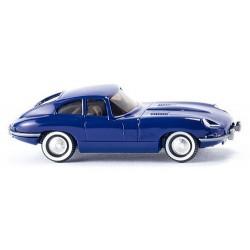 Jaguar Type E coupé 1961 bleu foncé
