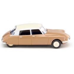 Citroen ID 19 berline 1957 brun clair toit ivoire