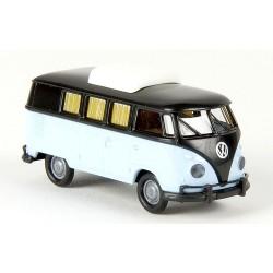 VW T1b Camping-Car bleu et noir (réhausse fermée)