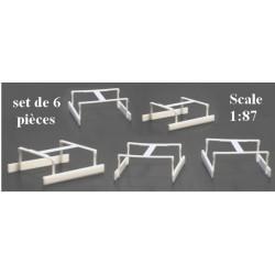 Set de 6 jeux de Protections latérales blanches pour semi-remorques Medi