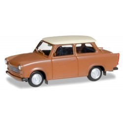 Trabant 601 S berline brune à toit beige