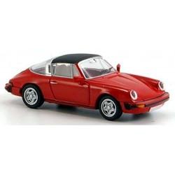 Porsche 911 Targa 1976 rouge toit bâché