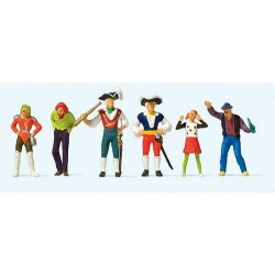 Set Carnaval : 6 figurines costumées