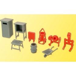 set d'accessoires de chantier