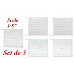 Set de 5 caisses à palettes blanches