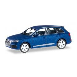 Audi Q7 (2015) deuxième génération bleu sepang métallisé