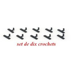 Set de 10 crochets d'attelage pour autos