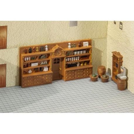 Set de mobilier ancien de magasin