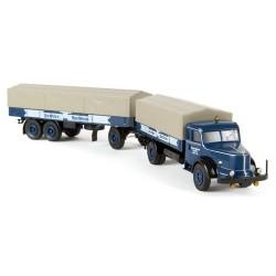 "Krupp Titan camion + rqe bâchée 3 essieux ""Dachser Spedition"""