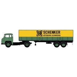 "Scania LB 76 + semi-remorque bâchée ""Schenker Göteborg"""