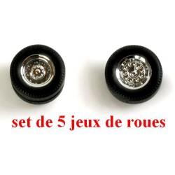 Set de 5 jeux de roues chromées pour tracteur routier