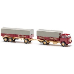 """MAN 10.210 camion + rqe bâchée 3 essieux """"Emons Spedition"""""""