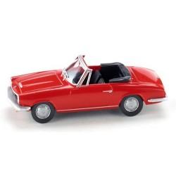 BMW 1600 GT Cabriolet ouvert rouge de 1967