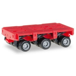 Set de 2 Dollies TPH à 3 essieux rouge