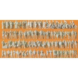 set de 120 figurines à peindre : voyageurs et passants