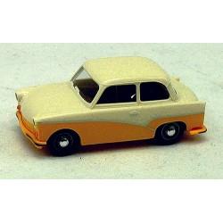 Trabant P50 1954 bicolore  jaune et crème