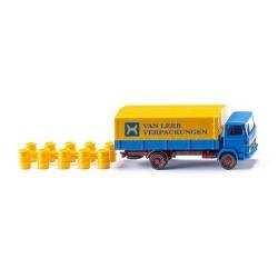 """MB 1317 camion bâché """"Van Leer"""" avec chargement de tonneaux"""