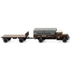 """MB L 2500 camion bâché + rqe plateau """"Harry W. Hamacher"""""""