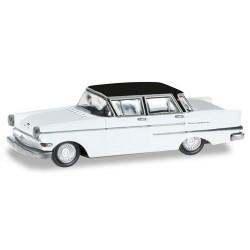 Opel Kapitän 1958 berlien blanche à toit noir (série Magic)