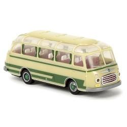 Setra S6 autocar 1955 vert clair et beige