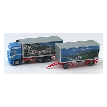 """Volvo F12 GL camion + remorque fourgon """"Paysages d'Italie"""""""