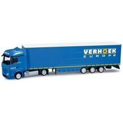 """MB Actros Bigspace '11 + semi-remorque Megaliner """"Verhoek"""" (NL)"""