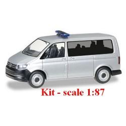 Kit Volkswagen T6 Multivan gris métallisé (avec rampe et gyro bleus)