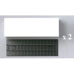 Set de 2 caisses fourgon blanches (7,45m)