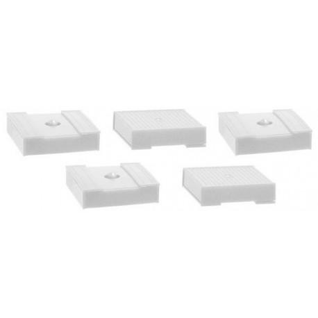 Set de 5 caisses à palettes fermées blanches (28x28x7 mm)